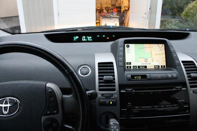 Vår Prius, instrumentpanel